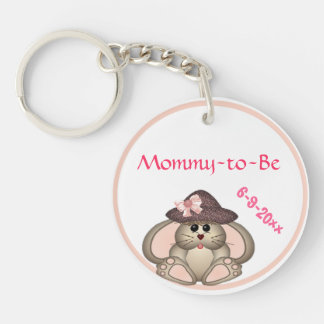 Adorable Bunny, Mommy-to-Be Baby Shower Acrylic Keychains