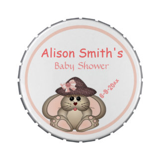 Adorable Bunny, Mommy-to-Be Baby Shower Jelly Belly Candy Tin