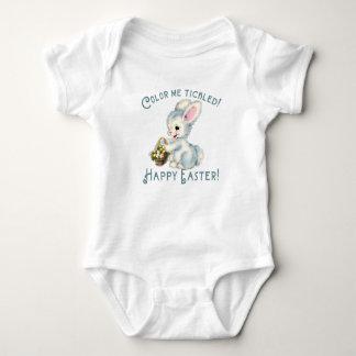 Adorable Bunny Rabbit with Easter Basket Baby Bodysuit