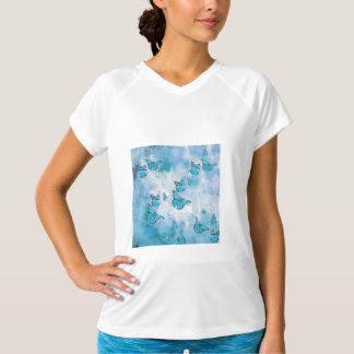 Adorable Butterflies, aqua T-Shirt