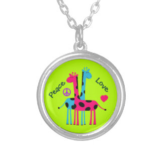 Adorable Cartoon Giraffes Personalized Necklace
