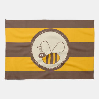 Adorable Cartoon Honey Bee Kitchen Towels