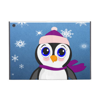 Adorable Cartoon Penguin with Scarf and Hat iPad Mini Case