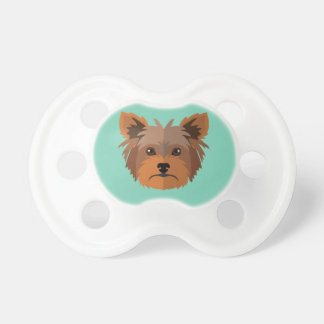 Adorable Cartoon Yorkshire Terrier, Yorkie Baby Pacifier