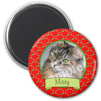 Adorable Cat Lover Photo and Name Magnet