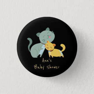 Adorable Cats Baby Shower Buttons