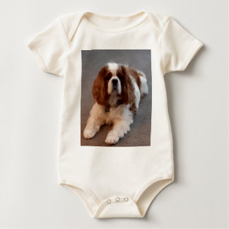 Adorable Cavalier King Charles Spaniel Baby Bodysuit