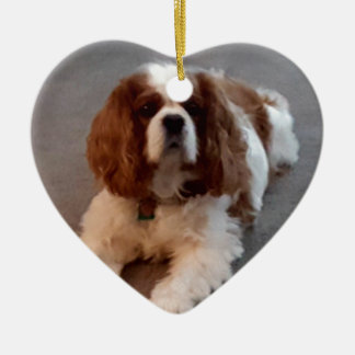 Adorable Cavalier King Charles Spaniel Ceramic Ornament