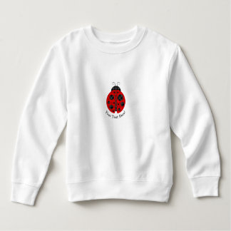Adorable checkered plaid ladybug graphic icon sweatshirt
