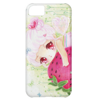 Adorable chibi girl with strawberry iPhone 5C case