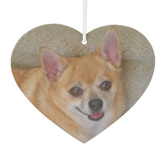 Adorable Chihuahua - heart shaped air freshener