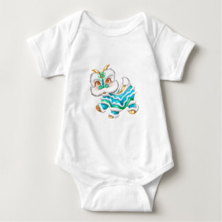 Adorable Chinese New Year Dragon 2012 Blue Baby Bodysuit