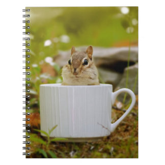 Adorable Chipmunk in a Cup Notebook