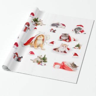 Adorable Christmas Kittens  Wrapping Paper