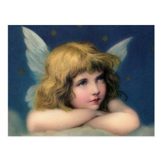 Adorable Christmas Vintage Angel Postcard