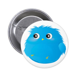 Adorable Chubby Furry Monster 6 Cm Round Badge