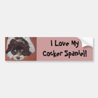 Adorable Cocker Spaniel Bumper Sticker