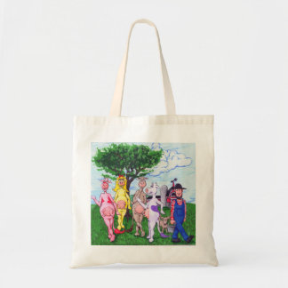 Adorable Colorful Cows and Farmer Bags