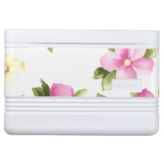 Adorable Colorful Girly Blooming Flowers Cooler