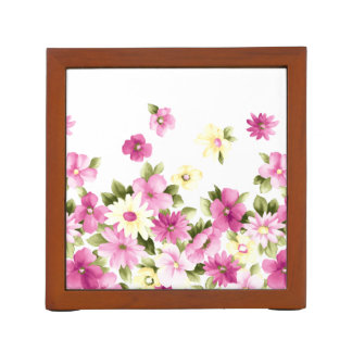 Adorable Colorful Girly Blooming Flowers Desk Organiser
