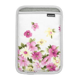 Adorable Colorful Girly Blooming Flowers iPad Mini Sleeve