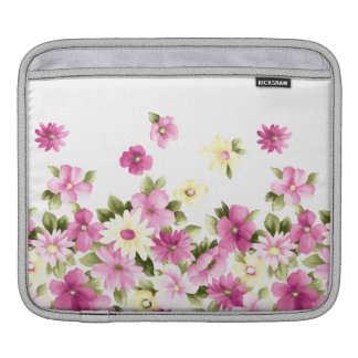 Adorable Colorful Girly Blooming Flowers iPad Sleeve