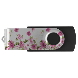 Adorable Colorful Girly Blooming Flowers USB Flash Drive