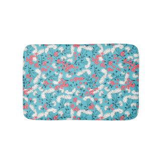 Adorable Colourful Spring Flowers Pattern Bath Mat