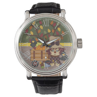 Adorable Country Autumn Fall Rag Doll Wristwatch