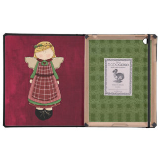 Adorable Country Folk Art Rag Angel Doll Cases For iPad