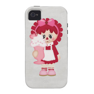 Adorable Country Valentine Rag Doll iPhone 4 Case