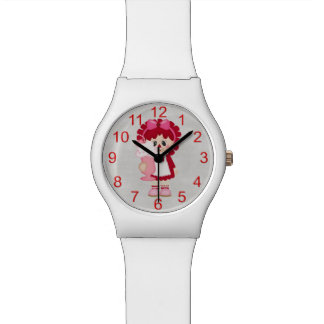 Adorable Country Valentine Rag Doll Wristwatches
