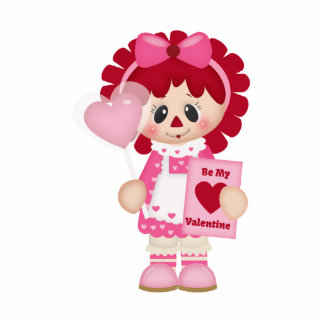 Adorable Country Valentine Rag Doll Acrylic Cut Outs