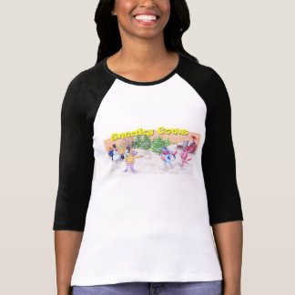 Adorable Cows Play in the Snow Tshirts