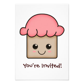 Adorable Cupcakes Invitations
