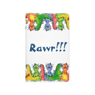 Adorable cute baby dinosaurs doodle picture design journal