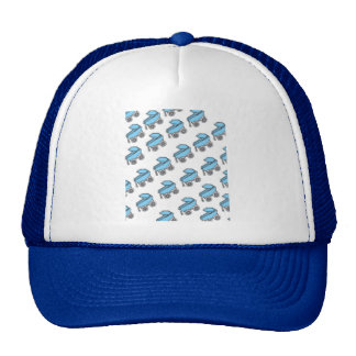 Adorable Cute Carriage Baby Boy Shower Hat