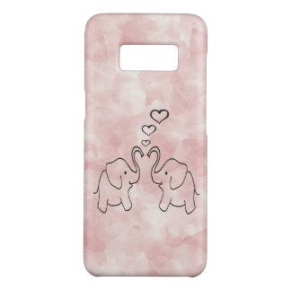 Adorable cute elephants in love Case-Mate samsung galaxy s8 case
