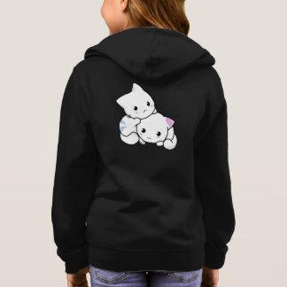 Adorable Cute Kittens Girl's Basic Zip Hoodie
