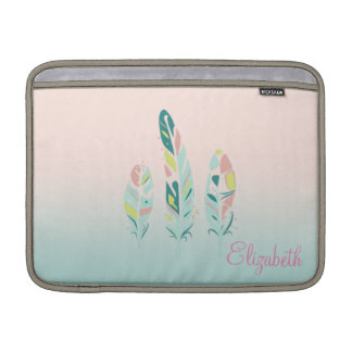 Adorable Cute  Modern Girly Feathers Sleeve For MacBook Air