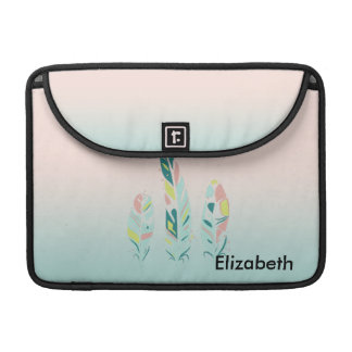 Adorable Cute  Modern Girly Feathers Sleeve For MacBooks