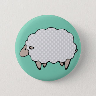 Adorable Cute Polkadot Grey Sheep 6 Cm Round Badge