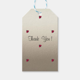 Adorable Cute , Red Ladybugs,Luminous Gift Tags