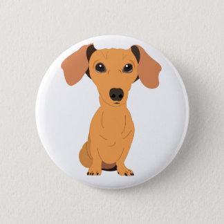 Adorable Dachshund 6 Cm Round Badge