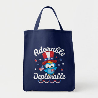 Adorable Deplorable Owl Trump 2016 Grocery Tote Bag