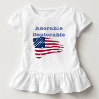 ADORABLE  DEPLORABLE   TODLER SHIRT