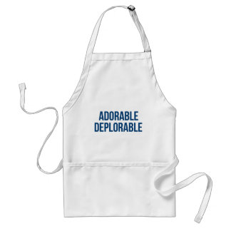 Adorable - Deplorable - Trump - Republican Standard Apron