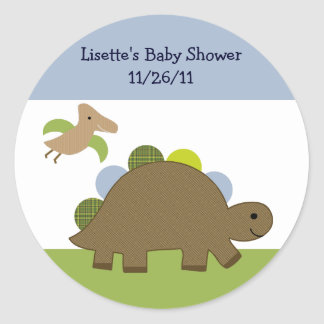 Adorable Dino/Dinosaur Stickers/Envelope Seals Round Sticker