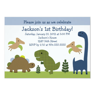Adorable Dino/Dinosaurs Birthday Invitation