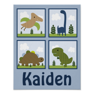 Adorable Dino/Dinosaurs Personalized Art Poster
